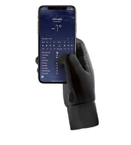 صورة موجو قفازات تدعم اللمس لشاشات الأجهزة الذكية  كبير - أسود