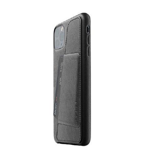 صورة موجو كفر جلد مزود بحافظة للكروت للأيفون 11 برو ماكس - أسود