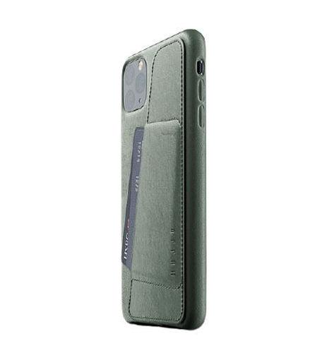 صورة موجو كفر جلد مزود بحافظة للكروت للأيفون 11 برو ماكس - أخضر