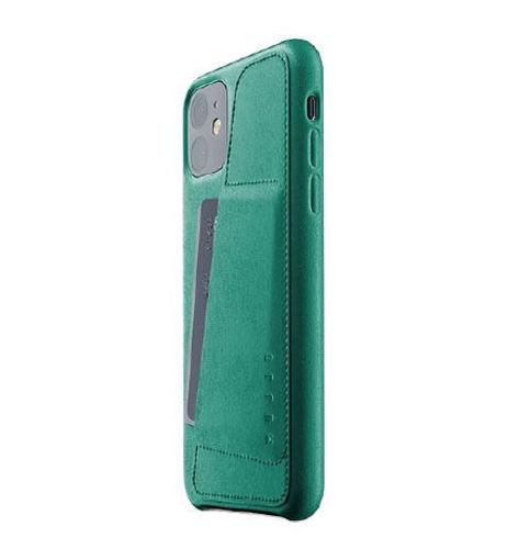 صورة موجو كفر جلد مزود بحافظة للكروت للأيفون 11 - أخضر