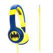 صورة باتمان سماعة رأس سلكية للأطفال - أزرق / أصفر