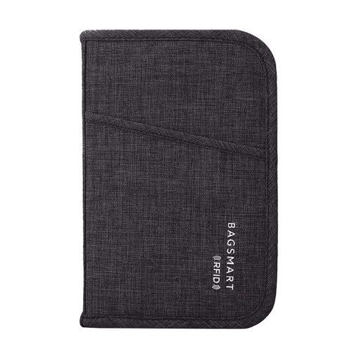 صورة باق سمارت حقيبة لجواز السفر و البطاقات - أسود داكن