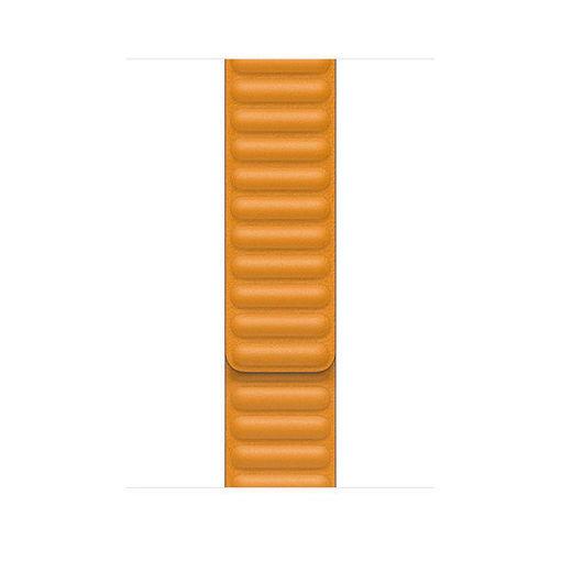 صورة أبل سير جلد لساعة أبل 44/42 مللي كبير - أصفر