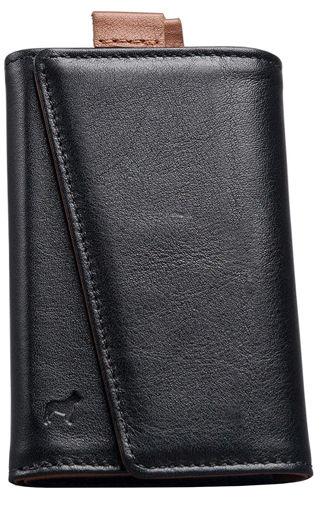 صورة فرنشي محفظة جلد إيطالي - أسود