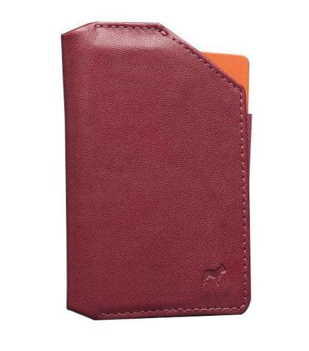 صورة فرينشي محفظة هاتف جلدية - أحمر