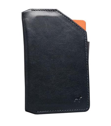 صورة فرينشي محفظة هاتف جلدية - أسود