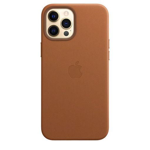صورة أبل كفر جلد للأيفون 12 برو ماكس - بني