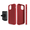 صورة إيفوتيك كفر نايلون للأيفون 12 برو ماكس مع حامل مغناطيس للسيارة - أحمر
