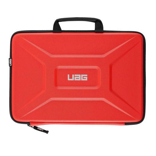 صورة يو أي جي حافظة مع مقبض للكمبيوتر المحمول والتابليت حتي مقاس 13 إنش - أحمر