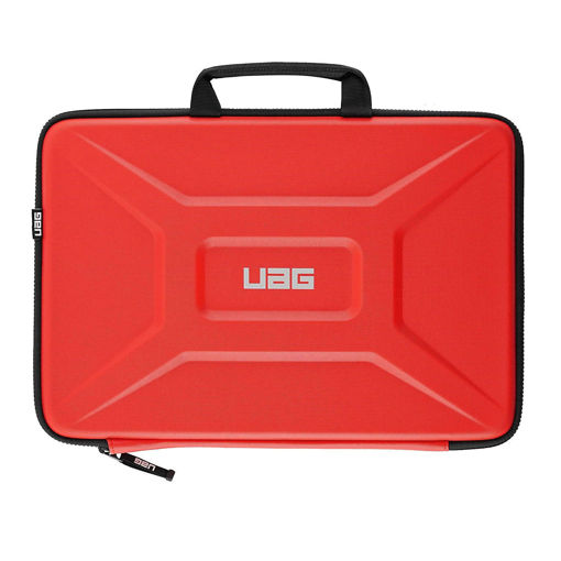 صورة يو أي جي حافظة مع مقبض للكمبيوتر المحمول مقاس 15 إنش - أحمر