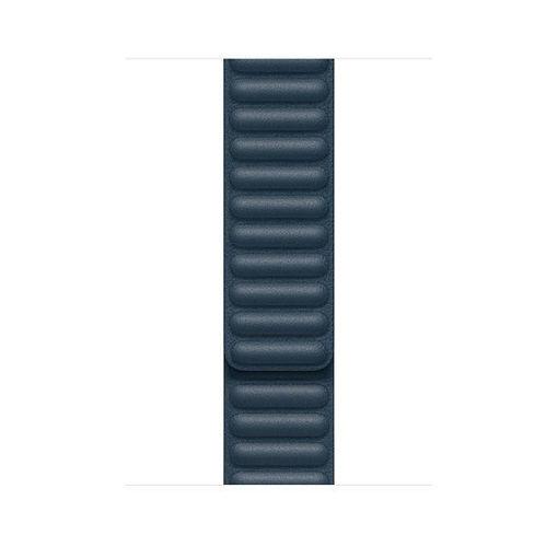 صورة أبل سير جلد لساعة أبل 44/42 مللي صغير - أزرق