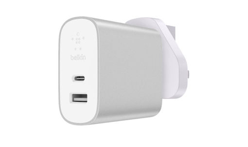 Picture of Belkin UK Home Charger USB-C and USB-A 27W - Silver