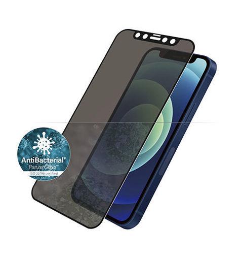 صورة بانزر قلاس حماية شاشة للأيفون 12 ميني - للخصوصية/إطار أسود