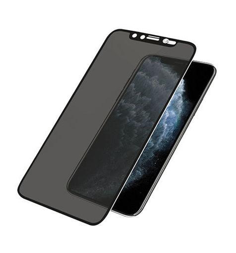 صورة بانزر قلاس حماية شاشة مع غطاء للكاميرا للأيفون 11 برو - أسود للخصوصية
