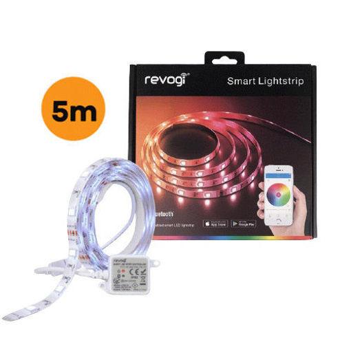 صورة   ريفوجي شريط إضاءة أل ايي دي ملون ذكي 5 متر مع محول