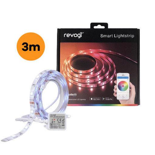 صورة   ريفوجي شريط إضاءة أل ايي دي ملون ذكي 3 متر مع محول