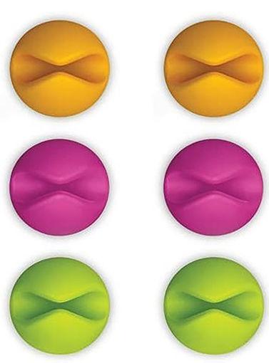 صورة بلو لاونج مثبت للأسلاك 6 حبات - متعدد الالوان