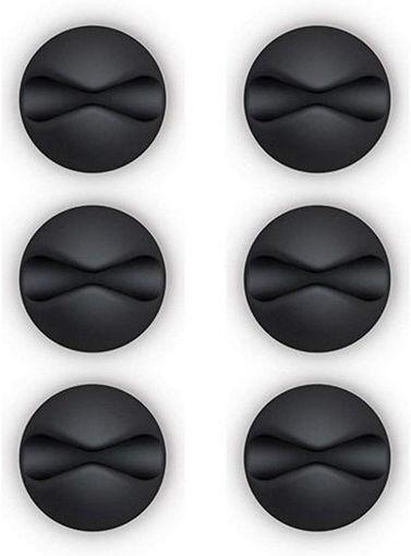 صورة بلو لاونج مثبت للأسلاك 6 حبات - أسود