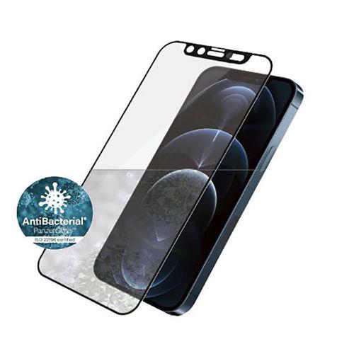 صورة بانرز قلاس حماية شاشة بغطاء كاميرا مدمج للأيفون 12 برو ماكس - إطار أسود