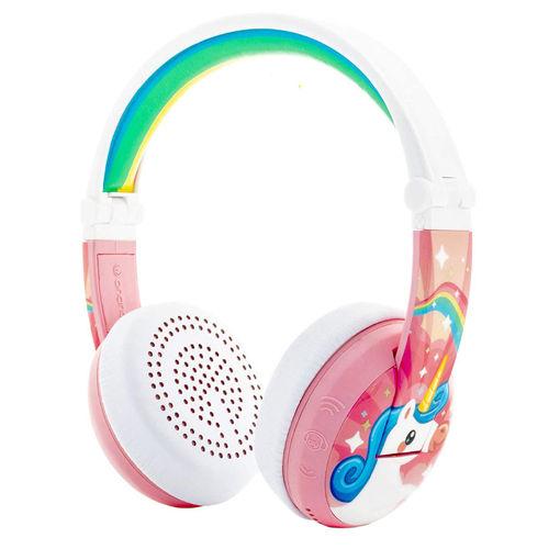 Picture of BuddyPhones Wave Bluetooth Headphone Waterproof - Unicorn Pink