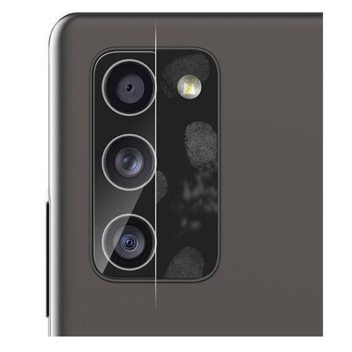 صورة أراري حماية للكاميرا الخلفية لهاتف جالاكسي نوت 20 ألترا قطعتين - شفاف