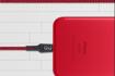 صورة قوي  كيبل لايتنينج 1.5 م - أحمر / أسود