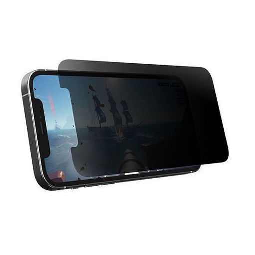 صورة أوتر بوكس حماية شاشة شفاف والخصوصية أفقي للألعاب لأيفون 12 برو ماكس - خصوصية