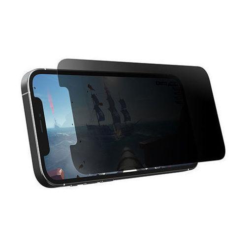 صورة أوتر بوكس واقي شاشة حامي الخصوصية الأفقي للألعاب لهاتف أيفون 12 و 12 برو - خصوصية