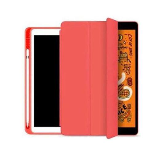 صورة جي سي بال كفر مع حامل أقلام لجهاز أيباد 10.2 إنش (2019/2020) - أحمر