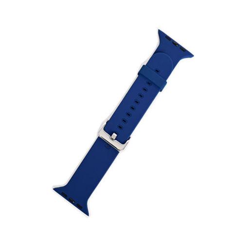 صورة جست مست سير سيليكون لساعة أبل مقاس 44 ملي - أزرق