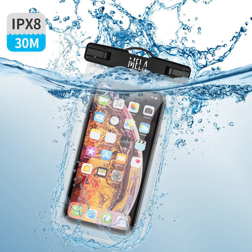 صورة سي واج كفر ضد الماء للهاتف - أسود/شفاف