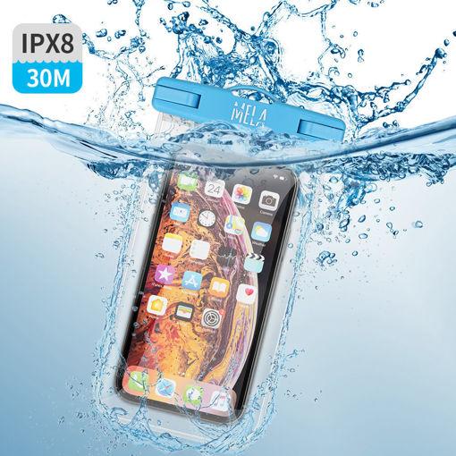 صورة سي واج كفر ضد الماء للهاتف - أزرق/شفاف