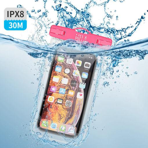 صورة سي واج كفر ضد الماء للهاتف - وردي/شفاف