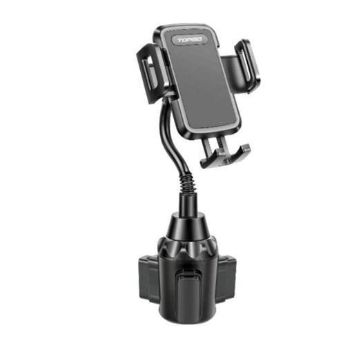 صورة توب جو حامل هاتف للسيارة بزاوية 360 درجة - أسود
