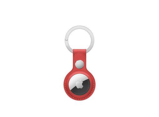 صورة أبل حاملة جلد لجهاز التتبع مع حامل للمفاتيح - أحمر
