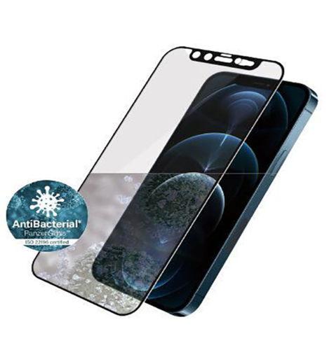 صورة بانرز قلاس حماية شاشة بغطاء كاميرا شوارفيسكي مدمج للأيفون 12 برو ماكس - إطار أسود
