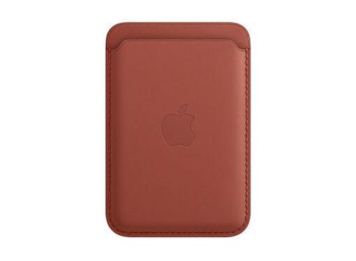صورة أبل محفظة جلد للأيفون مع ماجسيف - بني