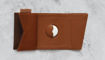 صورة فرنشي محفظة جلد إيطالي مع مكان لجهاز التتبع أصدار خاص - أسود
