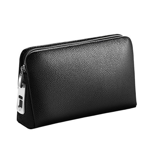 صورة بابم حقيبة جلد ذكية بتقنية قفل ببصمة الإصبع - أسود