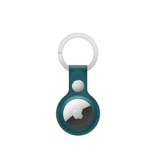 صورة أبل حاملة جلد لجهاز التتبع مع حامل للمفاتيح - أخضر