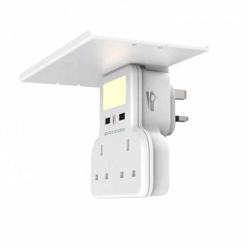 صورة برودو موزع كهرباء ذكي متعدد الوظائف 13 أمبير - أبيض