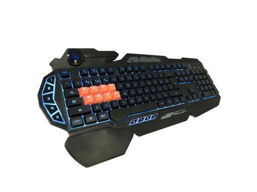 صورة  بلودي لوحة مفاتيح الألعاب 8 لايت سترايك ، تخطيط أمريكي - أسود