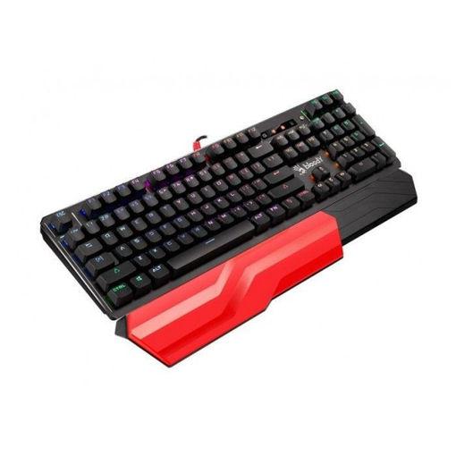 صورة بلودي لوحة مفاتيح الألعاب الميكانيكية RGB باللون البني - أسود