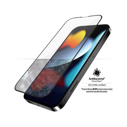 صورة بانزر قلاس حماية شاشة للأيفون 13 برو ماكس - شفاف/اطار أسود