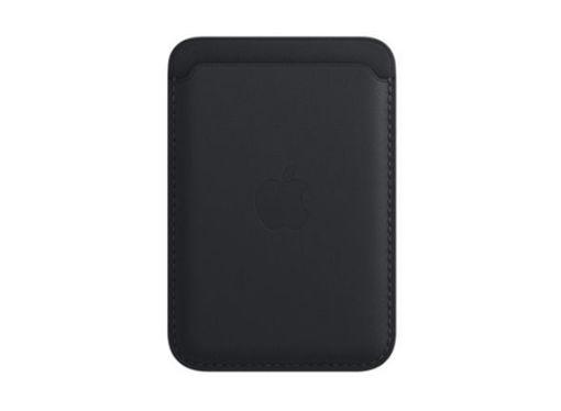 صورة أبل محفظة جلد للأيفون مع ماجسيف - أسود