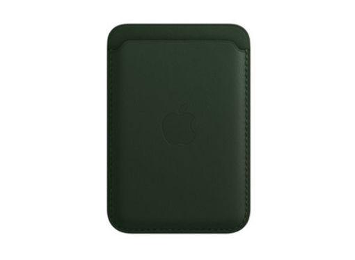 صورة أبل محفظة جلد للأيفون مع ماجسيف - أخضر