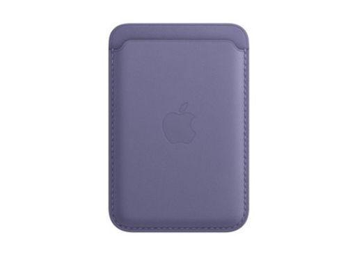 صورة أبل محفظة جلد للأيفون مع ماجسيف - بنفسجي