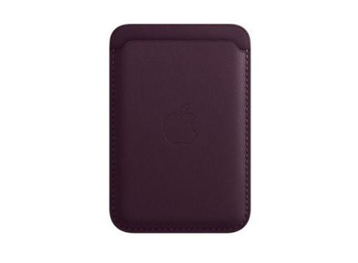صورة أبل محفظة جلد للأيفون مع ماجسيف - بنفسجي غامق