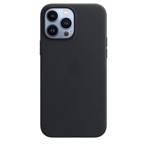 صورة أبل كفر جلد للأيفون 13 برو ماكس - أسود