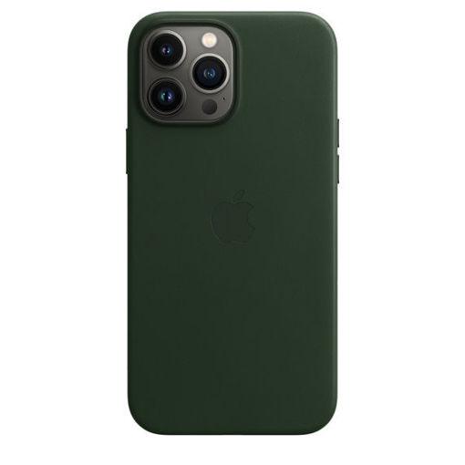 صورة أبل كفر جلد للأيفون 13 برو - أخضر